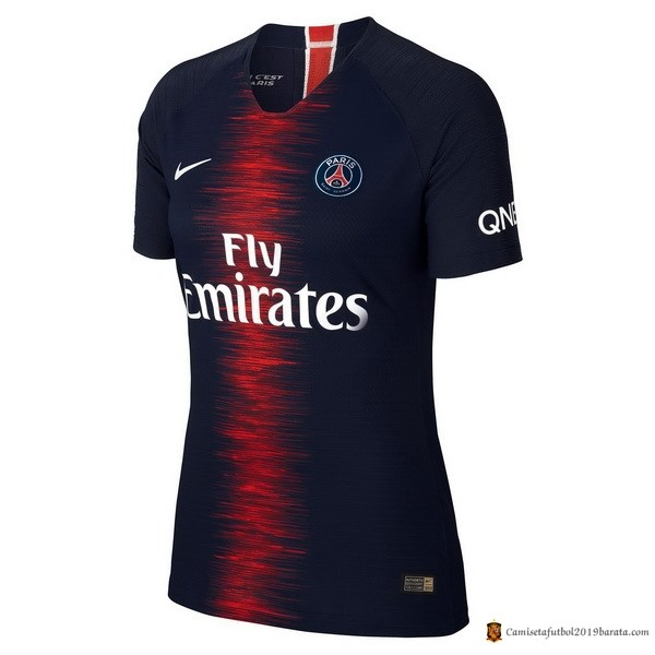 Camiseta Paris Saint Germain Replica Primera Mujer 2018/2019 Azul